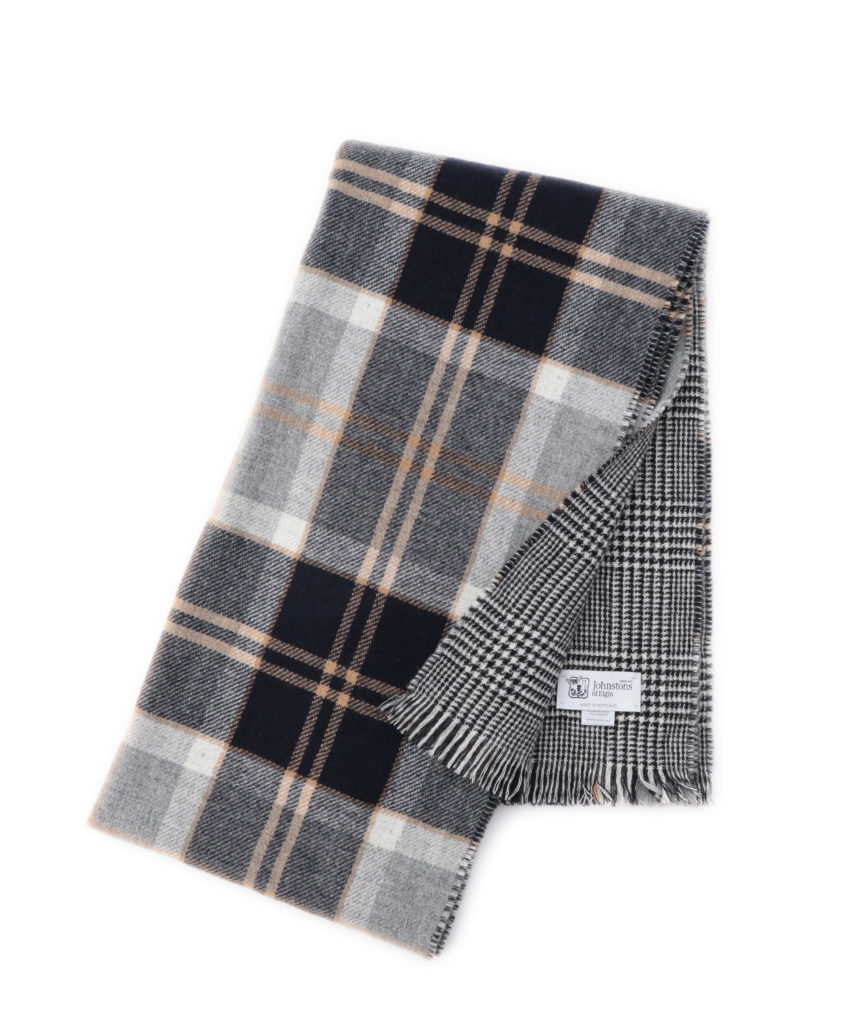 WB001004 Woven Scarf(Grey,Dk Navy)